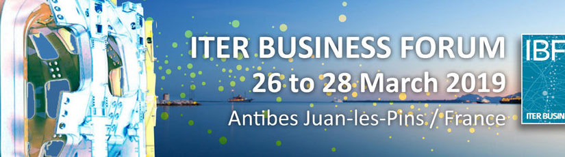 SAVE THE DATE/  ITER BUSINESS FORUM 2019: J-6