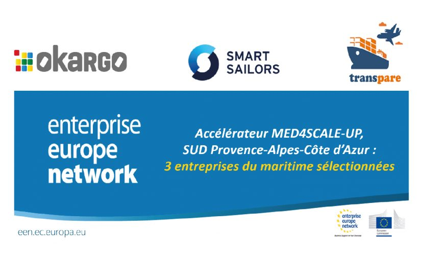 The MED4SCALE-UP Accelerator by the Sud Region: Three Maritime Companies Selected